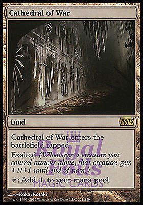 **1x FOIL Cathedral of War** MTG M13 Core Set Rare MINT land