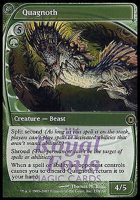 **1x FOIL Quagnoth** FUT MTG Future Sight Rare MINT green