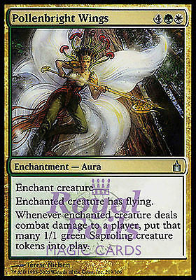 **2x FOIL Pollenbright Wings* RAV MTG Ravnica Uncommon MINT green white