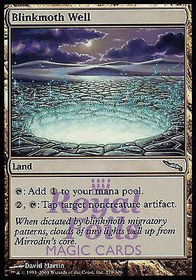 **1x FOIL Blinkmoth Well** MDN MTG Mirrodin Uncommon MINT land