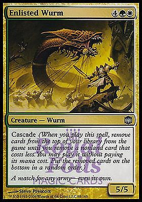 **2x FOIL Enlisted Wurm** ARB MTG Alara Reborn Uncommon MINT white green