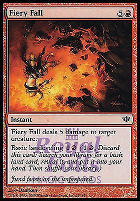 **4x FOIL Fiery Fall** CON MTG Conflux Common MINT red