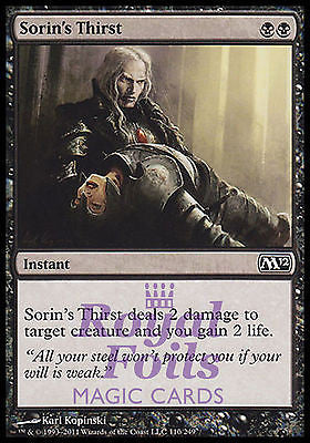**4x FOIL Sorin's Thirst** MTG M12 Magic 2012 Core Set Common MINT black