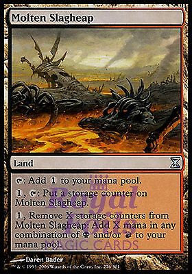 **1x FOIL Molten Slagheap** TSP MTG Time Spiral Uncommon MINT black red land