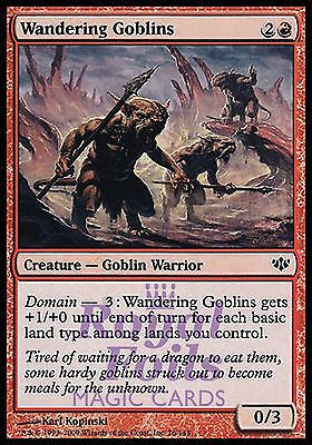**4x FOIL Wandering Goblins** CON MTG Conflux MINT red