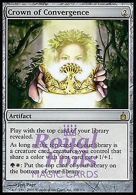 **1x FOIL Crown of Convergence** RAV MTG Ravnica Rare MINT green white artifact