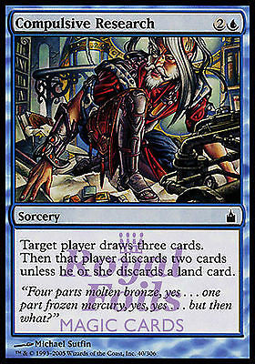 **1x FOIL Compulsive Research** RAV MTG Ravnica Common MINT blue