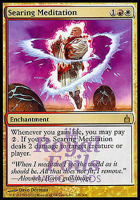 **1x FOIL Searing Meditation** RAV MTG Ravnica Rare MINT red white