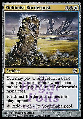 **1x FOIL Fieldmist Borderpost** ARB MTG Alara Reborn Common MT white blue artifact