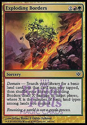 **4x FOIL Exploding Borders** CON MTG Conflux Common MINT red green