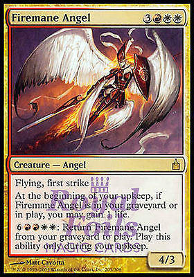 **1x FOIL Firemane Angel** RAV MTG Ravnica Rare MINT red white