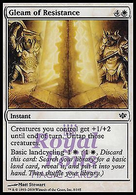 **4x FOIL Gleam of Resistance** CON MTG Conflux Common MINT white
