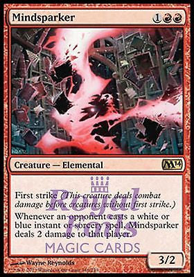 **1x FOIL Mindsparker** MTG M14 2014 Core Set Rare MINT red