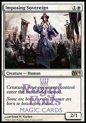 **1x FOIL Imposing Sovereign** MTG M14 2014 Core Set Rare MINT white