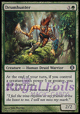**1x FOIL Drumhunter** ALA MTG Shards of Alara Uncommon MINT green
