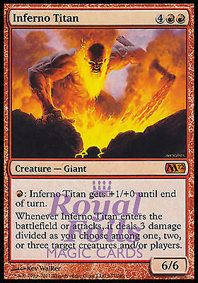 **1x FOIL Inferno Titan** MTG M12 Magic 2012 Core Set Mythic MINT red