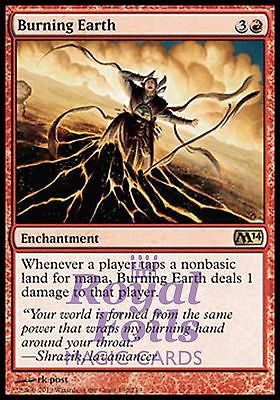**1x FOIL Burning Earth** MTG M14 2014 Core Set Rare MINT red