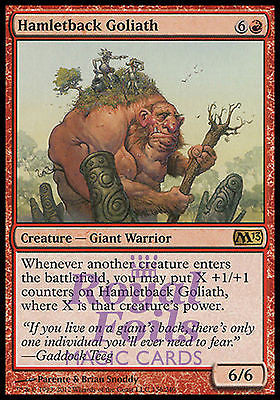 **2x FOIL Hamletback Goliath** MTG M13 Core Set Rare MINT red