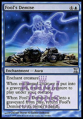 **1x FOIL Fool's Demise** TSP MTG Time Spiral Uncommon NM blue