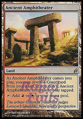 **1x FOIL Ancient Amphitheater** LRW MTG Lorwyn Rare MINT red white land