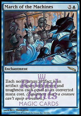 **1x FOIL March of the Machines** MDN MTG Mirrodin Rare MINT blue