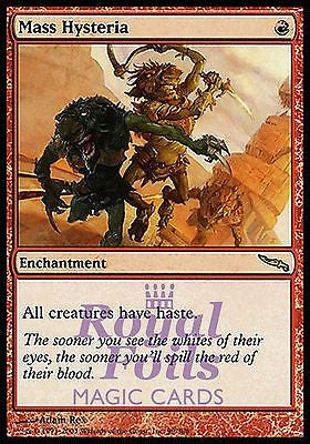 **1x FOIL Mass Hysteria** MDN MTG Mirrodin Rare NM red