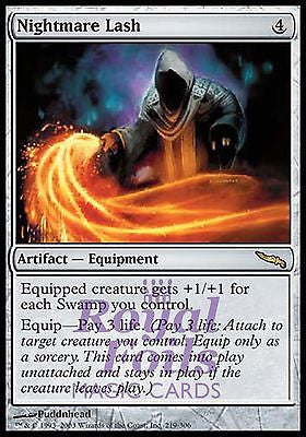**1x FOIL Nightmare Lash** MDN MTG Mirrodin Rare MINT artifact