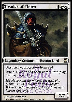 **1x FOIL Tivadar of Thorn** TSP MTG Time Spiral Rare MINT white