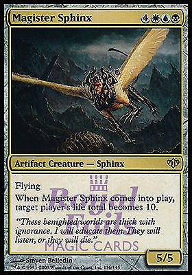 **1x FOIL Magister Sphinx** CON MTG Conflux Rare MINT artifact
