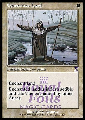 **3x FOIL Consecrate Land** TSS MTG Time Spiral Timeshifted NM white