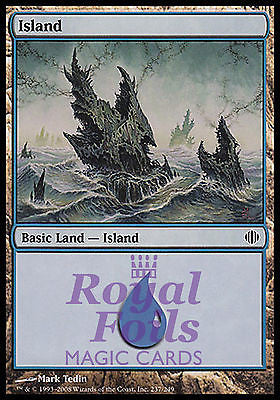 **2x FOIL Island #237** ALA MTG Shards of Alara MINT basic land
