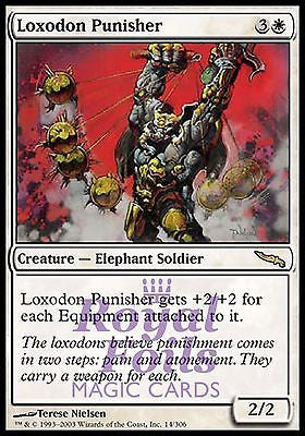 **2x FOIL Loxodon Punisher** MDN MTG Mirrodin Rare MINT white