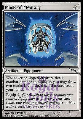 **1x FOIL Mask of Memory** MDN MTG Mirrodin Uncommon MINT artifact
