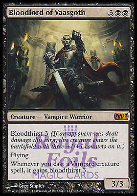 **1x FOIL Bloodlord of Vaasgoth** MTG M12 Magic 2012 Core Set Mythic MINT black