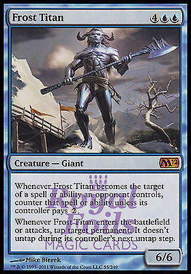 **1x FOIL Frost Titan** MTG M12 Magic 2012 Core Set Mythic MINT blue