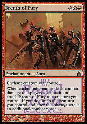 **1x FOIL Breath of Fury** RAV MTG Ravnica Rare MINT red