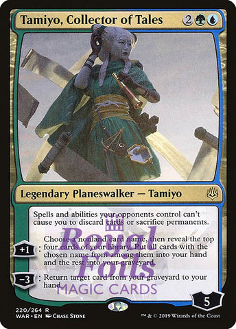 **1x FOIL Tamiyo, Collector of Tales** WAR MTG War of the Spark Rare MINT blue white