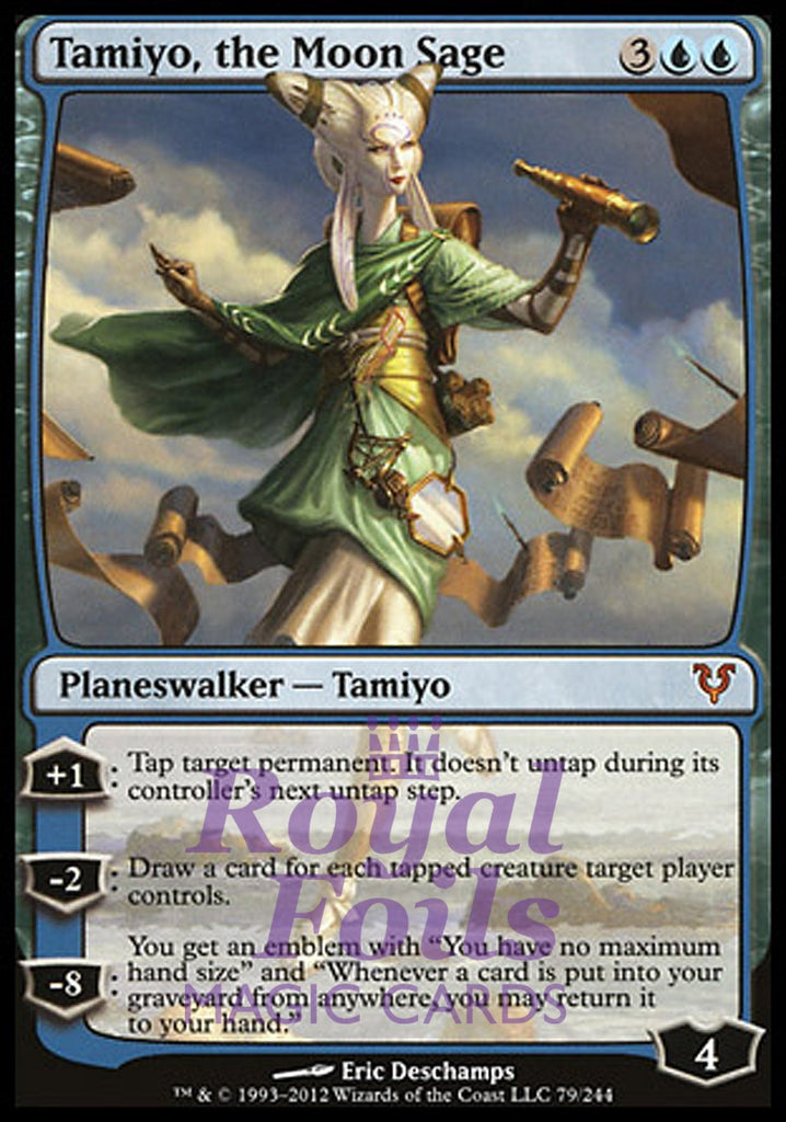 **1x FOIL Tamiyo, the Moon Sage** AVR MTG Avacyn Restored Mythic MINT blue planeswalker