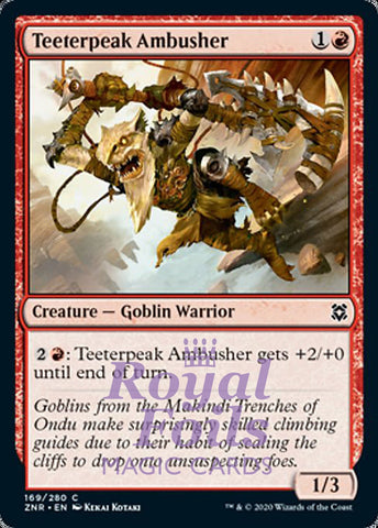 **4x FOIL Teeterpeak Ambusher** ZNR MTG Zendikar Rising Common MINT red