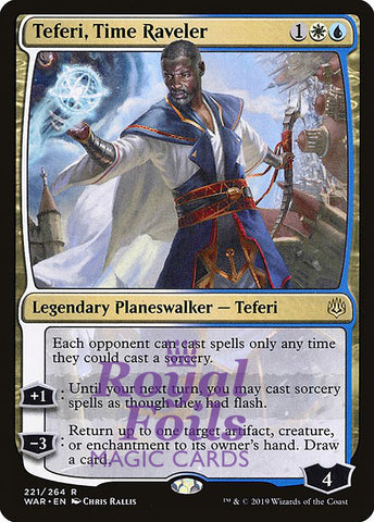 **1x FOIL Teferi, Time Raveler** WAR MTG War of the Spark Rare MINT blue white