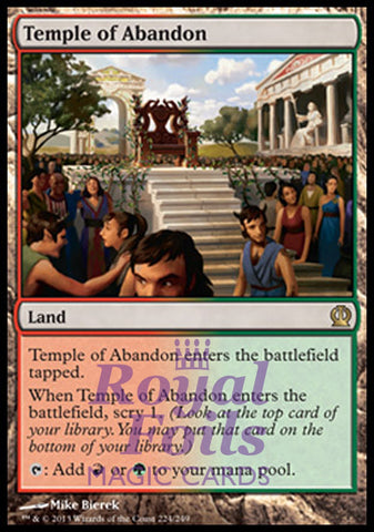 **1x FOIL Temple of Abandon** THS MTG Theros Rare MINT green red