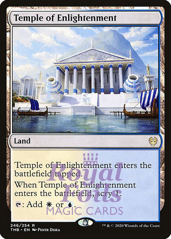 **1x FOIL Temple of Enlightenment** THB MTG Theros Beyond Death Rare MINT white blue land