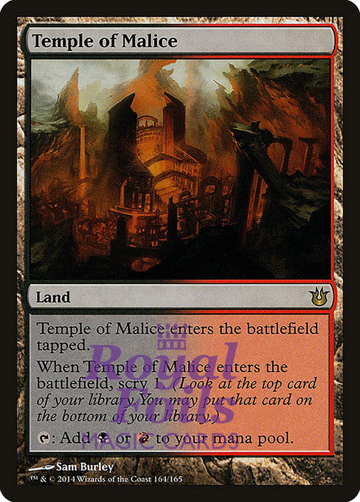 **1x FOIL Temple of Malice** BNG MTG Born of the Gods Rare MINT black red land