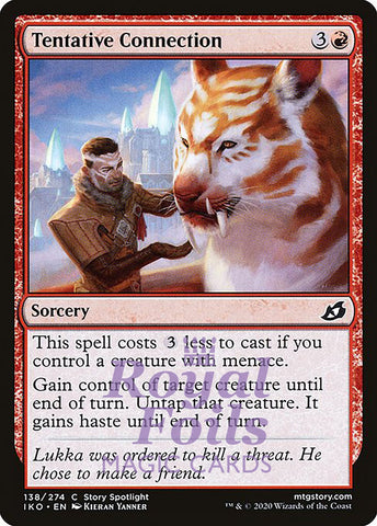 **4x FOIL Tentative Connection** IKO MTG Ikoria Common MINT red