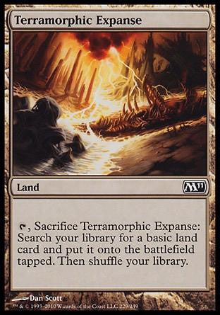 **1x FOIL Terramorphic Expanse** MTG M11 Core Set Common MINT land