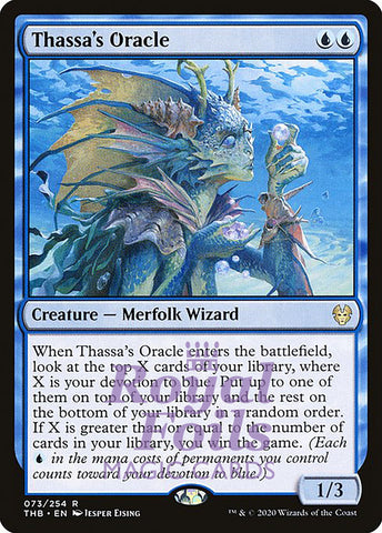 **1x FOIL Thassa's Oracle** THB MTG Theros Beyond Death Rare MINT blue