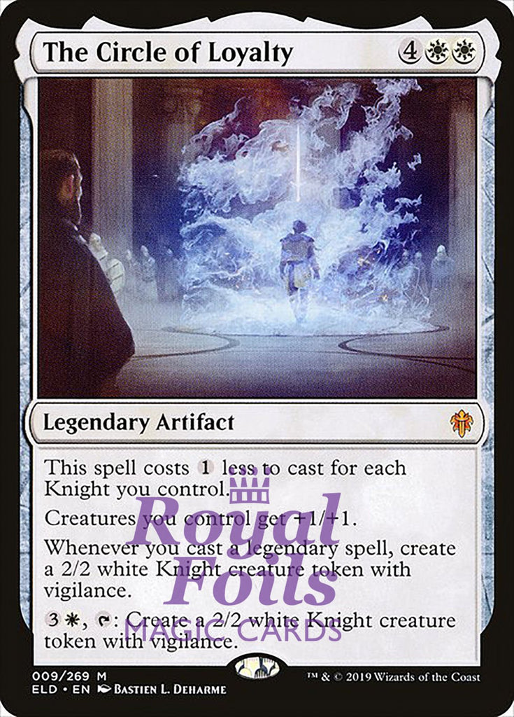 **1x FOIL The Circle of Loyalty** ELD MTG Throne of Eldraine Mythic MINT white