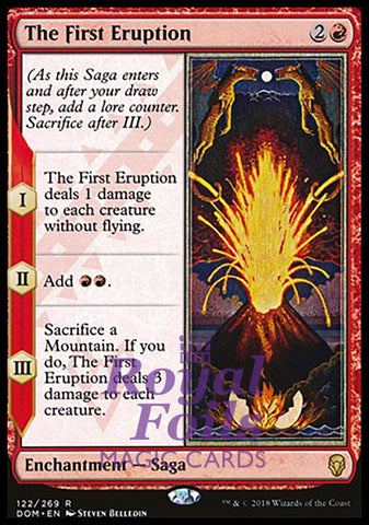 **1x FOIL The First Eruption** DOM MTG Dominaria Rare MINT red