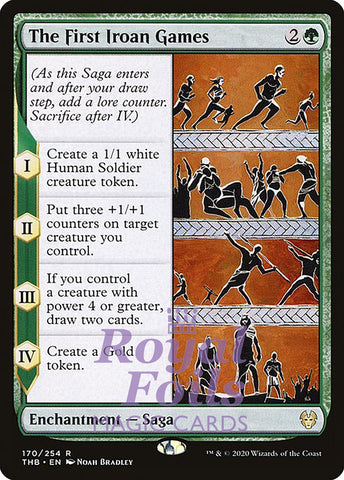 **2x FOIL The First Iroan Games** THB MTG Theros Beyond Death Rare MINT green