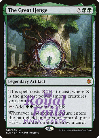 **1x FOIL The Great Henge** ELD MTG Throne of Eldraine Mythic MINT green